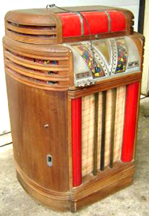 Seeburg Mayfair Jukebox, unlit, front
