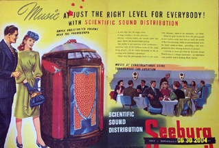 Ad for Seeburg Scientific Sound Distribution