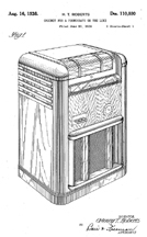 Patent for the Seeburg Universal Jukebox, D-110,880