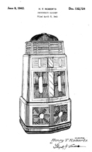 AMI Singing Towers Jukebox Design Patent D-132,724
