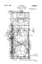 Small Changer Patent (1928) No. 1,792,553