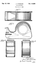 Scotch Tape Dispenser Patent No. D-116,599