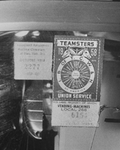1958 Teamsters Sticker on a New York Jukebox