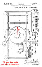 Jukebox Selector Patent Showing Tone Arm No. 2,371,491