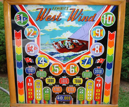 Exhibit Supply Co. West Wind Pinball - glass painting