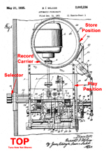 Wilcox Playback mechanism, Patent No. 2,002,236