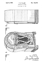Wurlitzer Model 1080 patent No. D- 153,276