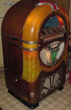 Wurlitzer Model 750 Jukebox - Front, Unlit