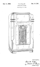 Wurlitzer Model 600 Jukebox Design Patent D-111,702