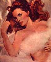 Julie London in a boa