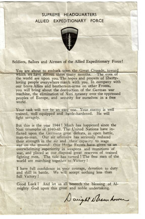 Ike's D-Day Message