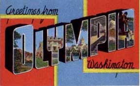 Olympia washington Postcard