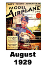 Model Airplane news cover for August of 1929