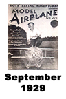 Model Airplane news cover for September of 1929