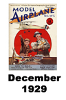Model Airplane news cover for December of 1929