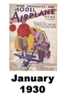 Model Airplane news cover for January of 1930