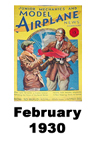 Model Airplane news cover for February of 1930
