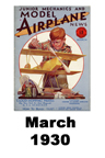 Model Airplane news cover for March of 1930