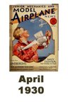 Model Airplane news cover for April of 1930