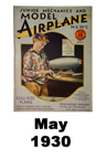 Model Airplane news cover for May of 1930
