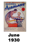 Model Airplane news cover for June of 1930