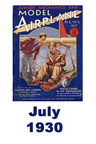 Model Airplane news cover for July of 1930