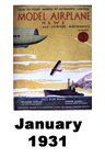 Model Airplane news cover for January of 1931