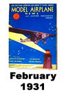 Model Airplane news cover for February of 1931
