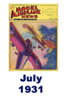Model Airplane news cover for July of 1931