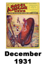 Model Airplane news cover for December of 1931