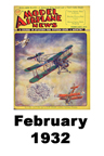 Model Airplane news cover for February of 1932