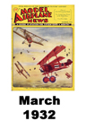 Model Airplane news cover for March of 1932