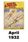 Model Airplane news cover for April of 1932
