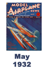 Model Airplane news cover for May of 1932