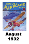 Model Airplane news cover for August of 1932