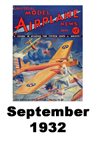 Model Airplane news cover for September of 1932