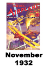Model Airplane news cover for Nov of 1932