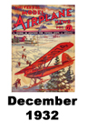 Model Airplane news cover for December of 1932