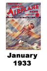 Model Airplane news cover for January of 1933