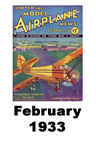 Model Airplane news cover for February of 1933
