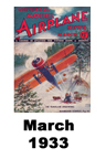 Model Airplane news cover for March of 1933
