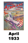 Model Airplane news cover for April of 1933