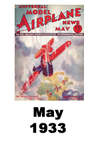 Model Airplane news cover for May of 1933