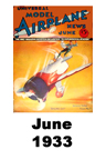 Model Airplane news cover for June of 1933