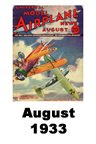 Model Airplane news cover for August of 1933