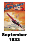 Model Airplane news cover for September of 1933