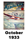 Model Airplane news cover for October of 1933