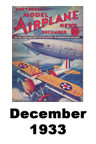 Model Airplane news cover for Dec of 1933