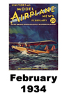 Model Airplane news cover for February of 1934