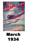 Model Airplane news cover for March of 1934